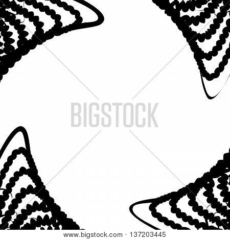 Warped Spirally Rotating Abstract Artistic Monochrome Background With Ripply, Wavy Lines. Geometric