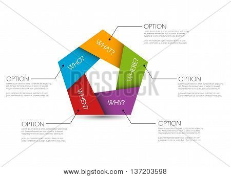 THis is vector template info graphic question - why who where when what