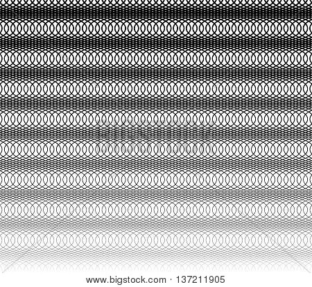 Grid, Mesh Monochrome Abstract Repeatable Pattern With Intersecting Irregular Wavy, Zigzag Lines (se