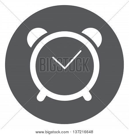 clock icon is time for business , shcool