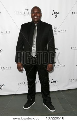 NEW YORK-JUN 25: Actor Tituss Burgess attends Logo TV's