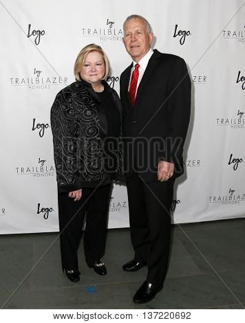 NEW YORK-JUN 25: Julie and Dennis Shepard attend Logo TV's