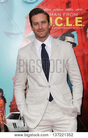 NEW YORK-AUG 10: Actor Armie Hammer attends