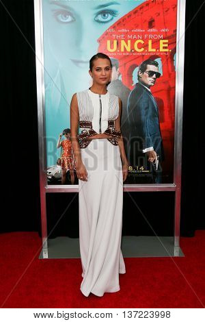 NEW YORK-AUG 10: Actress Alicia Vikander attends