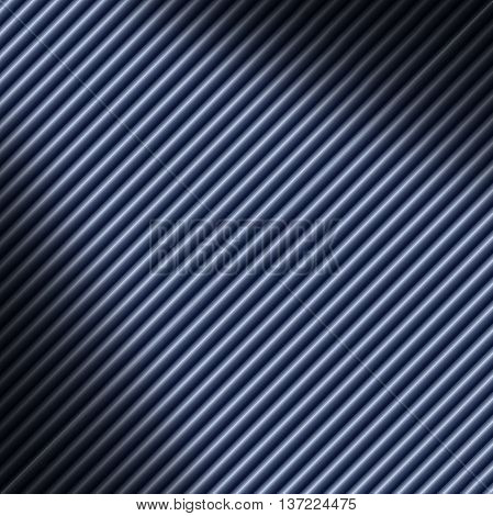 Diagonal blue tube background texture lit diagonally