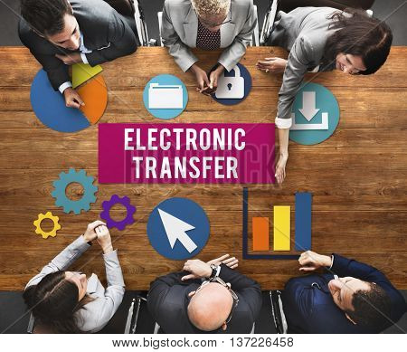 Electronic Transfer Banking Data Internet Concept poster