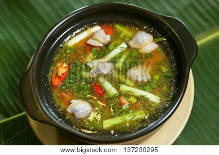 Vietnamese steamed mix vegetables with stew fishsauce