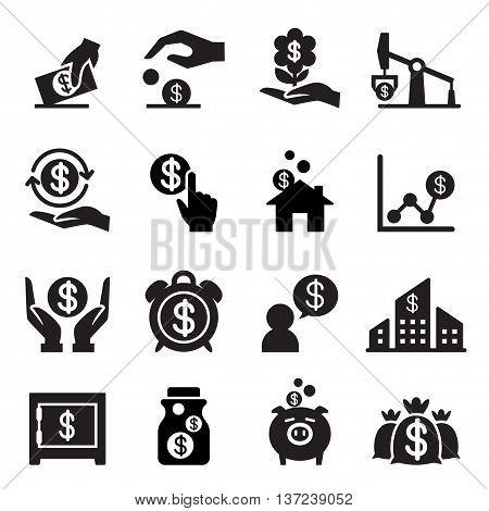 Saving money icon Vector illustration Graphic design