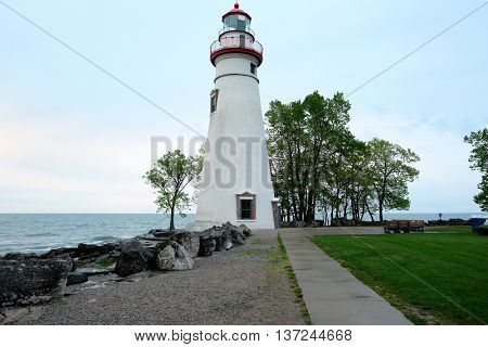 Marblehead Lighthouse, built in 1820, Lake Erie, Ohio, USA