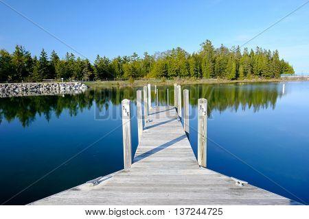 Marina on Lake Huron at Presque Isle, MI, USA