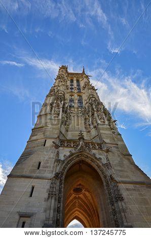 Tour Saint-Jacques at dawn in city Paris