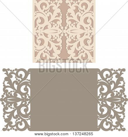 Laser Cut Envelope Template For Invitation Wedding Card3.eps