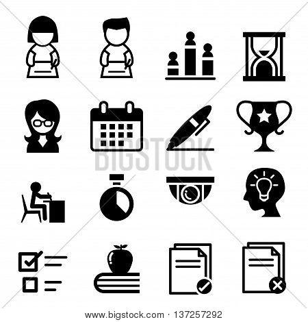 Test Examination Survey icon  Vector illustration Graphic design
