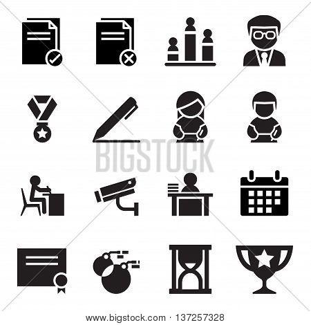 Test icon set  Vector illustration Graphic design