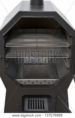 Inside of a new multifunctional charcoal grill oven.