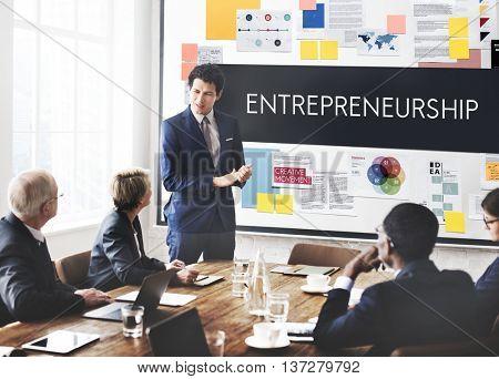Entrepreneurship Organizer Risk Enterprise Dealer Concept poster