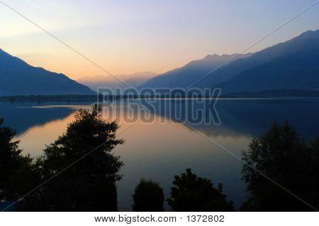 Lake Como At Sunrise