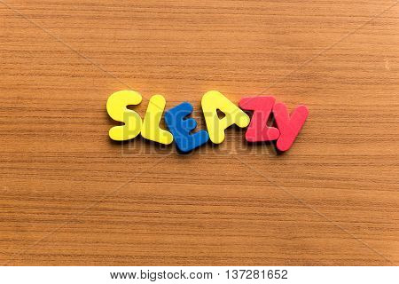 Sleazy Colorful Word