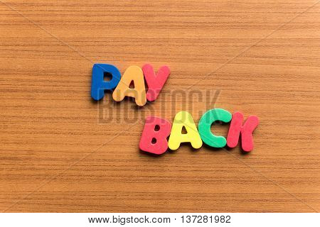 Pay Back Colorful Word