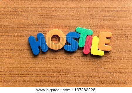 Hostile Colorful Word