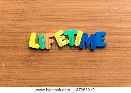 Lifetime Colorful Word