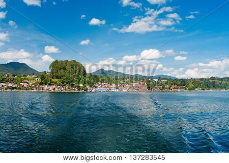 Samosir Island On Toba Lake. Indonesia