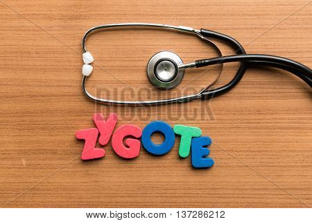 Zygote Colorful Word With Stethoscope