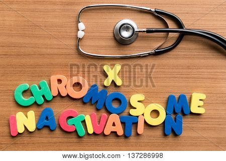 X Chromosome Inactivation Colorful Word With Stethoscope