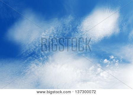 Stratocumulus Clouds And The Dark Blue Sky