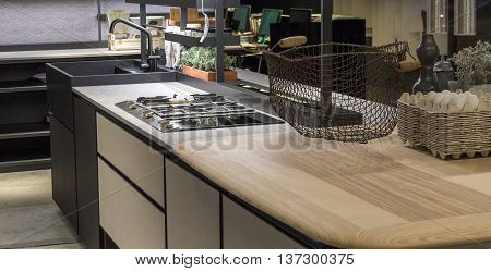 Low Key Contemporary and Bespoke Restaurant Kitchen