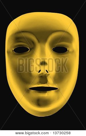 Gold Drama Mask