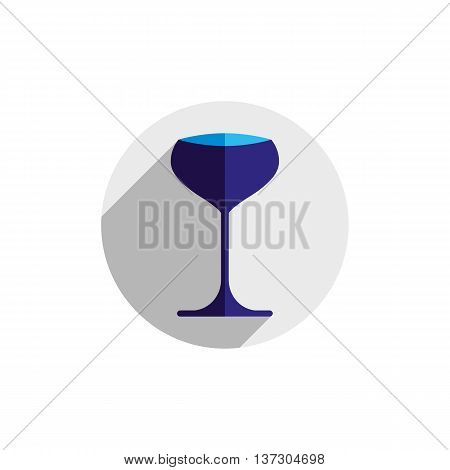 Sophisticated champagne glass. Alcohol theme conceptual symbol for use in advertising.