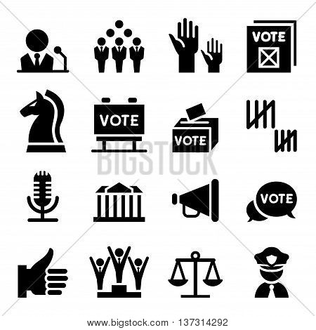 Democracy & Election icon vector illustration graphic design