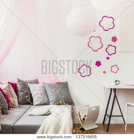 Image of girly style room for little princess