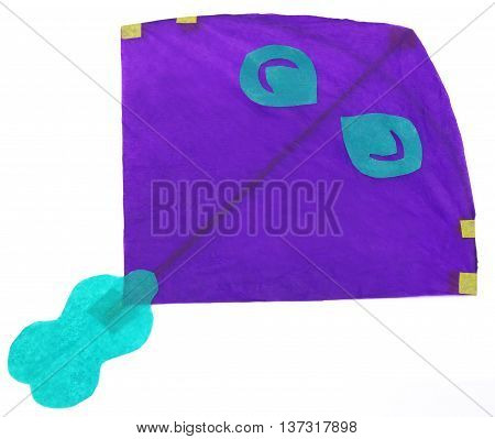 Traditional Bangladeshi kite made of thin papers over white background