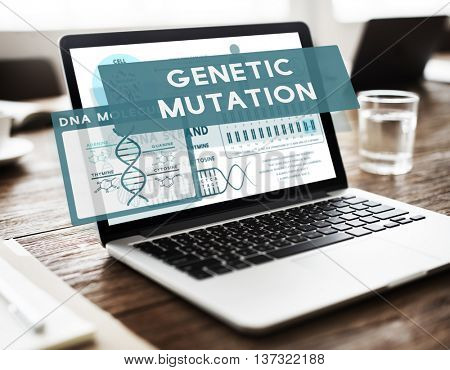 Genetic Mutation Modification Biology Chemistry Concept