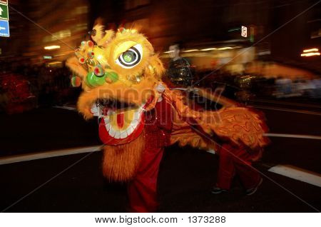 New Years Chinese Parade In San Francisco California
