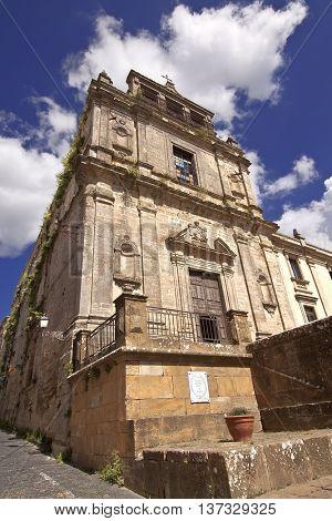 Santa Chiara church facade, Enna, Sicily.
