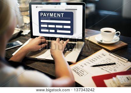 Payment Electronic E-commerce Credit E-payment Concept