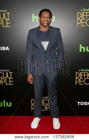 NEW YORK-JUL 30: Actor Derrick Baskin attends the Hulu Original Premiere of 'Difficult People' at the SVA Theater on July 30, 2015 in New York City.