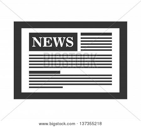 News on internet, techonology and journalism graphic design, vector illustration.
