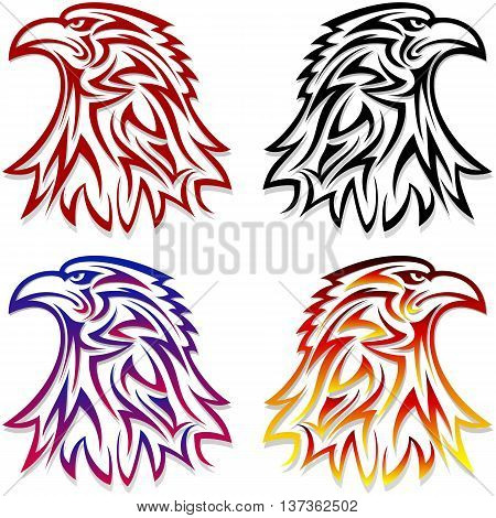 Eagle head symbol looking to the left and right; Eps8