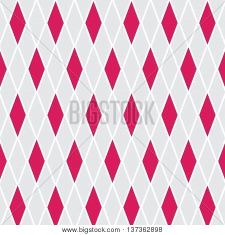 Abstract pink fuchsia and grey background with rhombuses in soft beautiful colors.