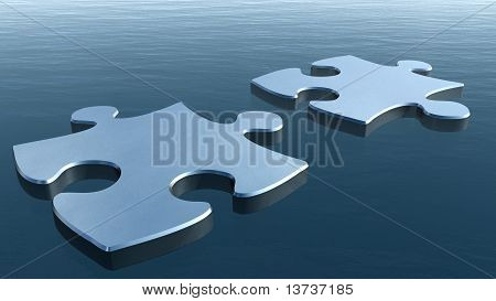 Two Puzzles On A Water Surface