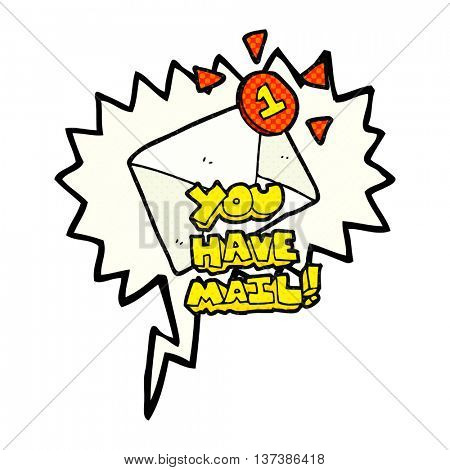 freehand drawn comic book speech bubble cartoon email