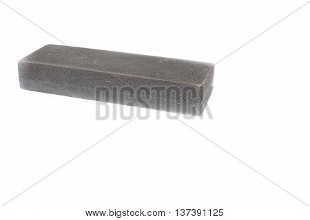 whetstone on white background, select focus front