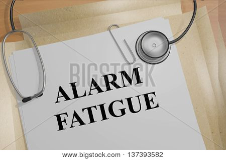 Alarm Fatigue Medical Concept