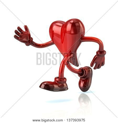 3D Illustration Of Running Heart