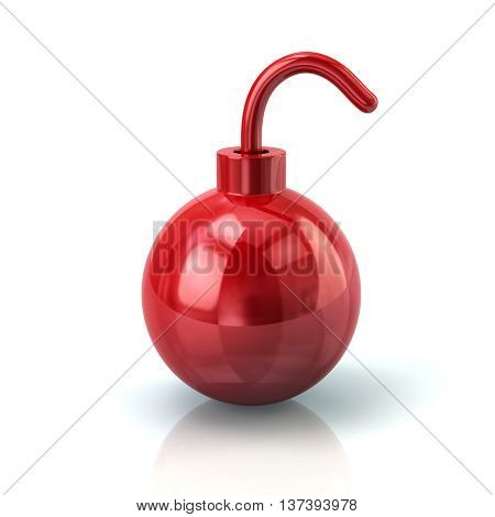3D Illustration Of Red Bomb Icon