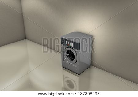 Industrial Washer In Empty Room